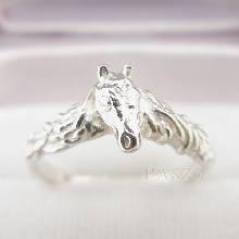 แหวนหัวม้า แหวนเงินแท้ 925