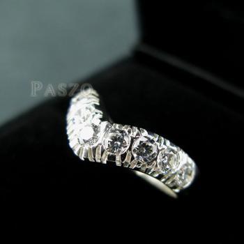 แหวนเพชร 7เม็ด แหวนเงินฝังเพชร #3