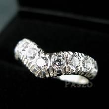 แหวนเพชร 7เม็ด แหวนเงินฝังเพชร
