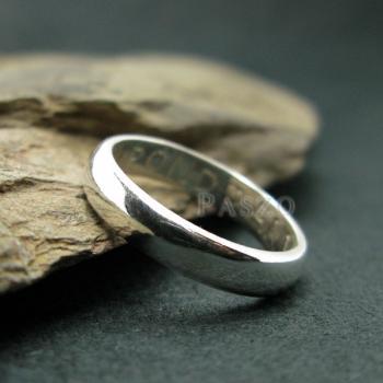 แหวนเกลี้ยงหน้าโค้ง กว้าง3มิล แหวนปลอกมีด #4