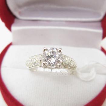แหวนเพชร แหวนเงินฝังเพชรน้ำงาม แหวนเงินฝังเพชร #2
