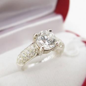 แหวนเพชร แหวนเงินฝังเพชรน้ำงาม แหวนเงินฝังเพชร #3
