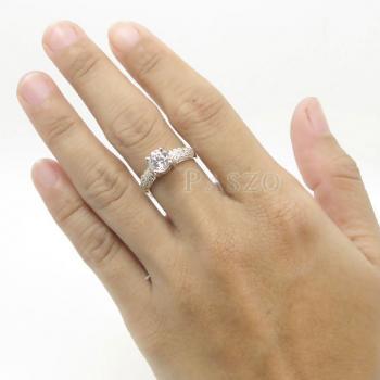 แหวนเพชร แหวนเงินฝังเพชรน้ำงาม แหวนเงินฝังเพชร #5