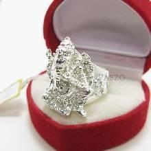 แหวนพระพิฆเนศ แหวนองค์พระพิฆเนศ แหวนเงินแท้ 925 แหวนขนาดใหญ่