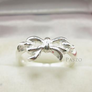 แหวนผูกโบว์ แหวนเงินแท้ 925 #2