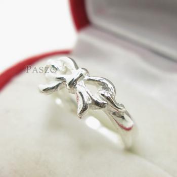 แหวนผูกโบว์ แหวนเงินแท้ 925 #3