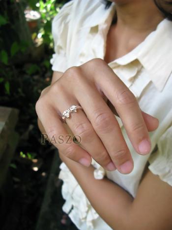 แหวนผูกโบว์ แหวนเงินแท้ 925 #4