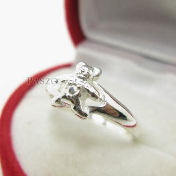 แหวนหมีเท็ดดี้แบร์ แหวนตุ๊กตาหมี แหวนเงินแท้ #3