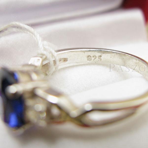 แหวนพลอยไพลิน แหวนเงินแท้ 925 #6