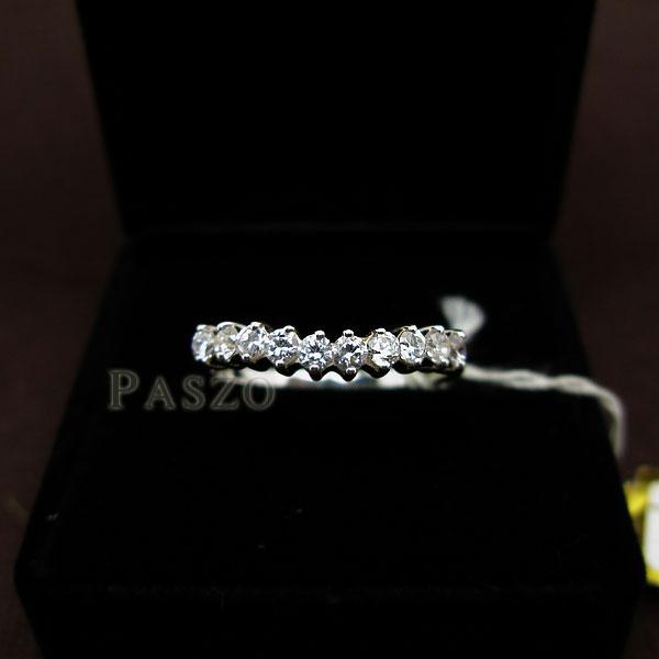 แหวนเงินแท้ ฝังเพชร แหวนเพชรแถว #2