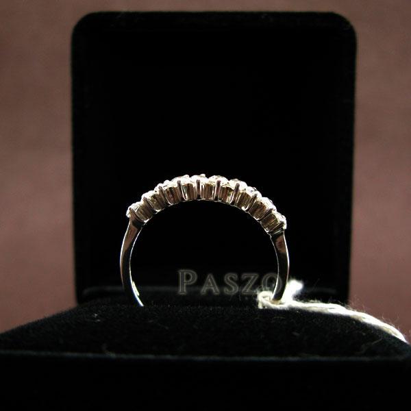 แหวนเงินแท้ ฝังเพชร แหวนเพชรแถว #5