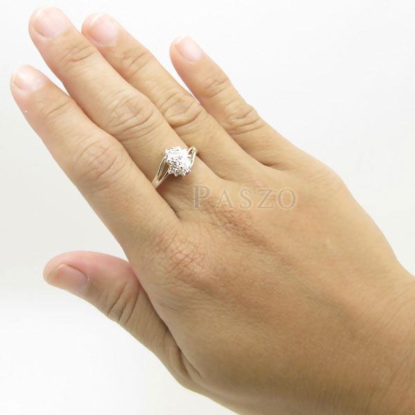 แหวนเพชร แหวนเงินแท้ แหวนเงินฝังเพชร #5