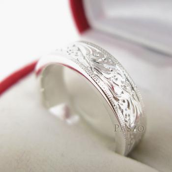 แหวนแกะลายไทย หน้ากว้าง6มิล แหวนเงินแท้ #3