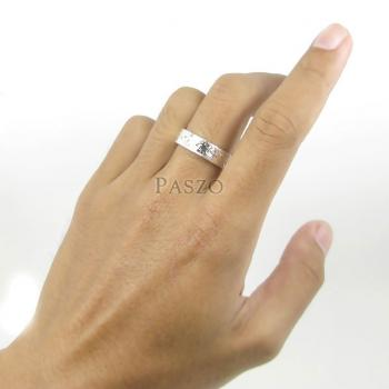 แหวนแกะลายไทย หน้ากว้าง6มิล แหวนเงินแท้ #6