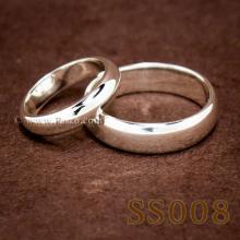 แหวนคู่รัก แหวนเงินเกลี้ยง แหวนหน้าโค้ง กว้าง6มิล กว้าง4มิล แหวนเงินแท้