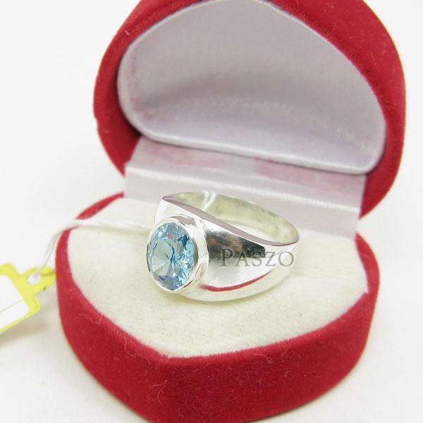แหวนผู้ชาย พลอยสีฟ้า บลูโทพาซ #4