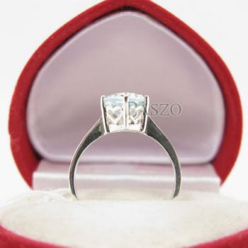 แหวนพลอยอะความารีน พลอยสีน้ำทะเล หนามเตย #5