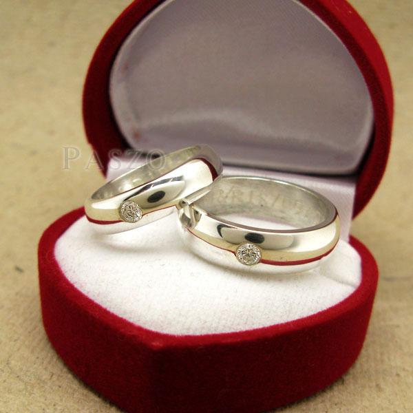 แหวนคู่รัก แหวนเกลี้ยงเงินแท้ หน้าโค้งมนขอบตรง #2