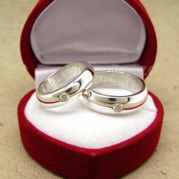 แหวนคู่รัก แหวนเกลี้ยงเงินแท้ หน้าโค้งมนขอบตรง #5