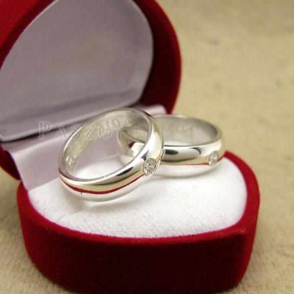 แหวนคู่รัก แหวนเกลี้ยงเงินแท้ หน้าโค้งมนขอบตรง #6