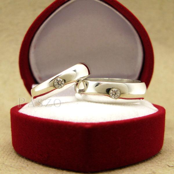 แหวนคู่รัก แหวนเกลี้ยงเงินแท้ หน้าโค้งมนขอบตรง #8