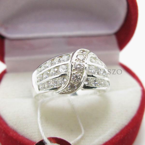 แหวนเพชร แหวนเงินแท้ แหวนเงินฝังเพชร #2