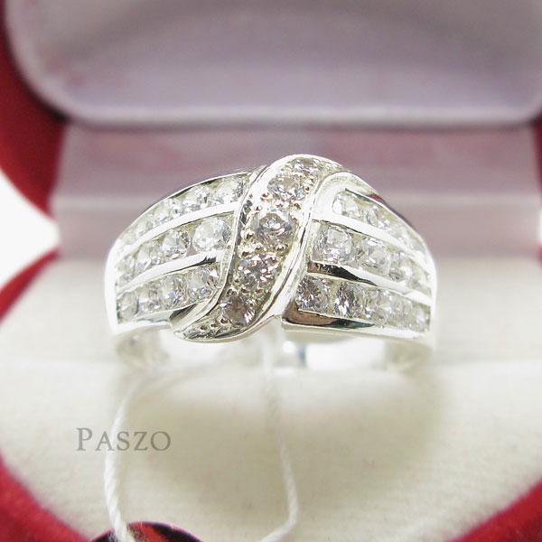 แหวนเพชร แหวนเงินแท้ แหวนเงินฝังเพชร #3