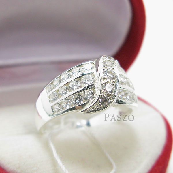 แหวนเพชร แหวนเงินแท้ แหวนเงินฝังเพชร #4