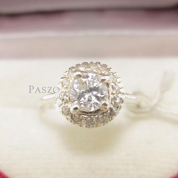 แหวนเพชร แหวนกระจุก แหวนเงินฝังเพชร #2