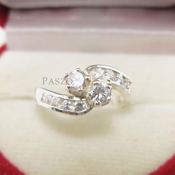 แหวนเพชร แหวนเงินฝังเพชร แหวนเงิน #2