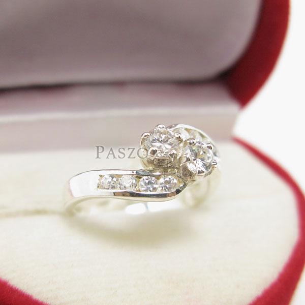 แหวนเพชร แหวนเงินฝังเพชร แหวนเงิน #3