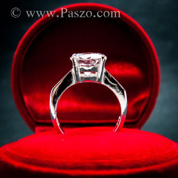แหวนเพชรเม็ดเดี่ยว แหวนเงิน แหวนเพชร #3