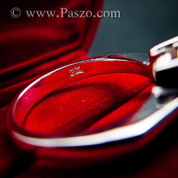 แหวนเพชรเม็ดเดี่ยว แหวนเงิน แหวนเพชร #8