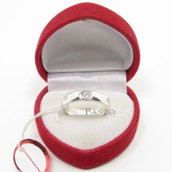 แหวนเพชร 3เม็ด กว้าง4มิล #2