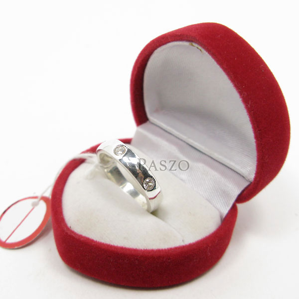 แหวนเพชร 3เม็ด กว้าง4มิล #4