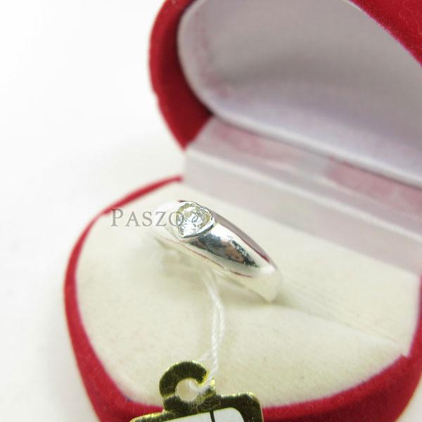 แหวนเพชร หัวใจ แหวนเงินฝังเพชร #2