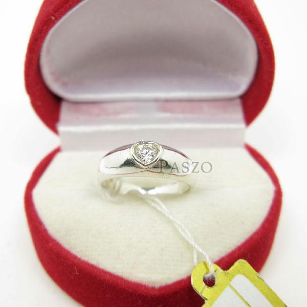 แหวนเพชร หัวใจ แหวนเงินฝังเพชร #4