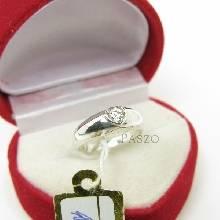แหวนเพชร หัวใจ แหวนเงินฝังเพชร