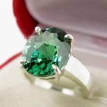 แหวนพลอยมรกต แหวนพลอยสีเขียว แหวนเม็ดเดี่ยว แหวนพลอยเม็ดใหญ่ แหวนเงินแท้