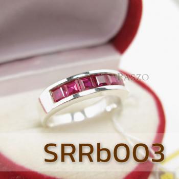 แหวนทับทิม แหวนแถว แหวนเงินแท้ #2