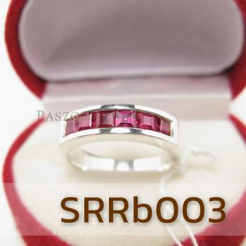 แหวนทับทิม แหวนแถว แหวนเงินแท้ #3