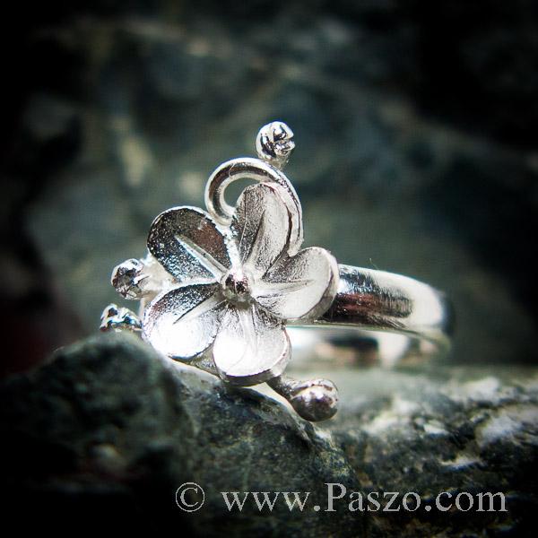 แหวนดอกไม้ แหวนเงินแท้  #2