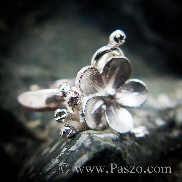 แหวนดอกไม้ แหวนเงินแท้  #3
