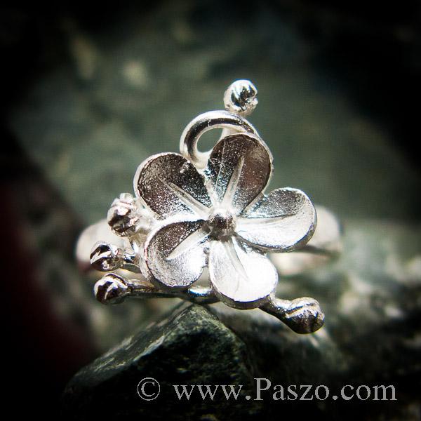 แหวนดอกไม้ แหวนเงินแท้  #5