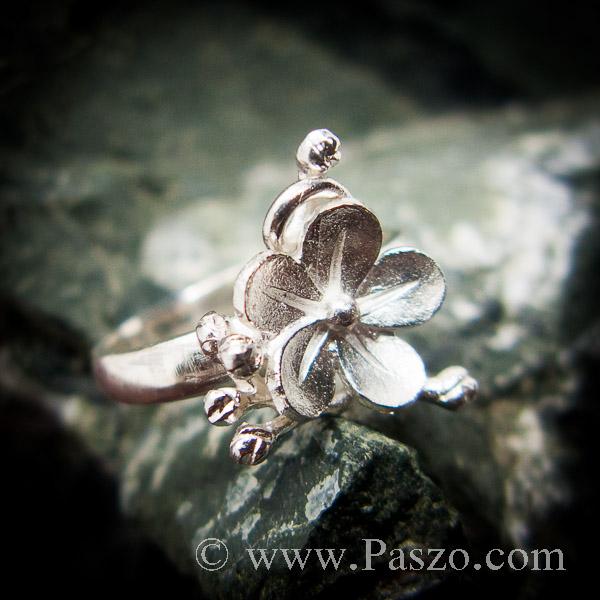 แหวนดอกไม้ แหวนเงินแท้  #6