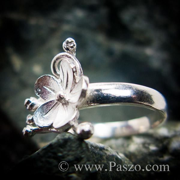 แหวนดอกไม้ แหวนเงินแท้  #7