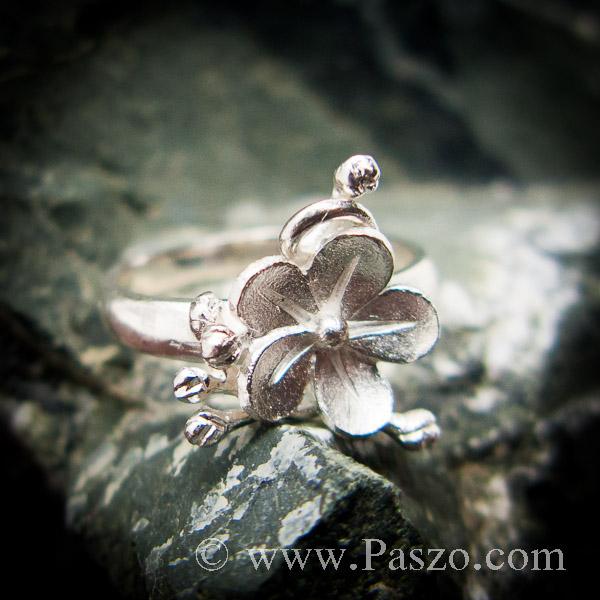 แหวนดอกไม้ แหวนเงินแท้  #9