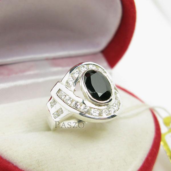 แหวนนิล นิลแท้ อัญมณีสีดำ #2