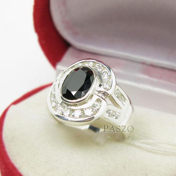 แหวนนิล นิลแท้ อัญมณีสีดำ #3