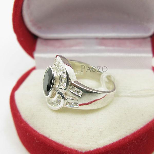 แหวนนิล นิลแท้ อัญมณีสีดำ #4